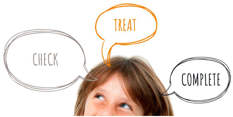 Tratamiento de piojos y liendres en niños